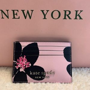 🔆 NEW Kate Spade S Slim Grand Flora Card Holder